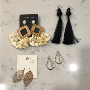 4 Pairs of Statement Earrings